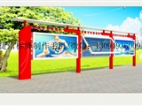 江蘇省 昆山市 宣傳欄 公交站臺 黨建標牌 戶外標識標牌制作廠家