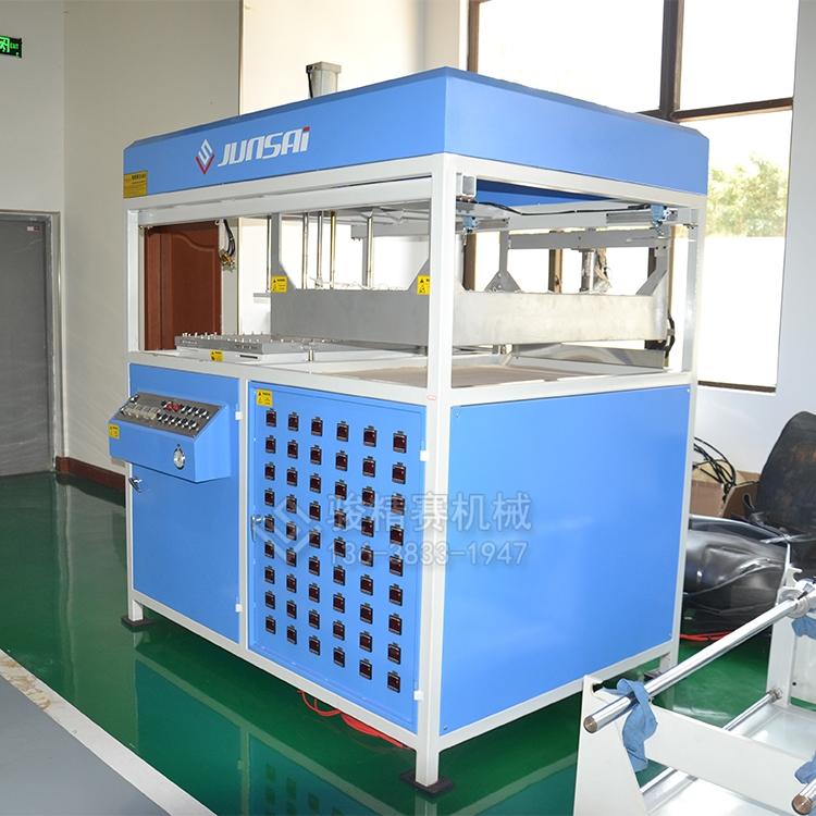 单工位厚片吸塑成型机 油漆桶透明内胆定制型一次生产设备 骏精赛小型真空机
