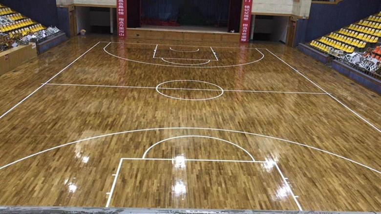 体育实木地板篮球馆育室内安装隔音舞台地板