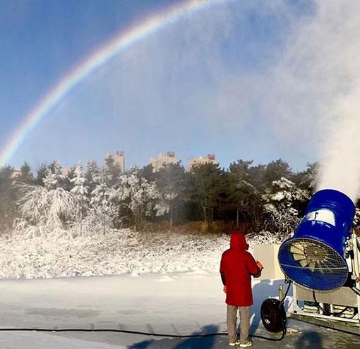滑雪場造雪需要具備三個條件