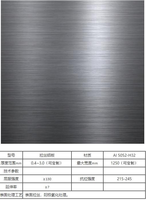 榆林5052鋁板價格