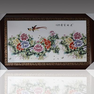 高檔瓷板畫 陶瓷壁畫掛畫手繪 花鳥景德鎮