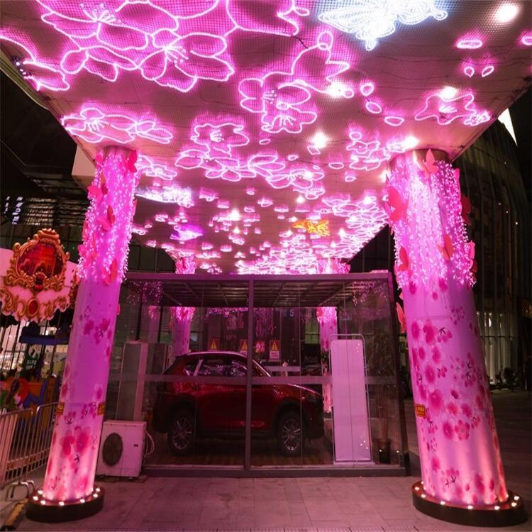 河南燈飾畫 商業廣場燈飾畫 燈光亮化工程 造型齊全