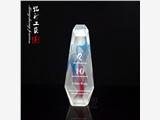 魔方丝印水晶奖杯定制,10周年庆典纪念奖杯定做,水晶厂家直销