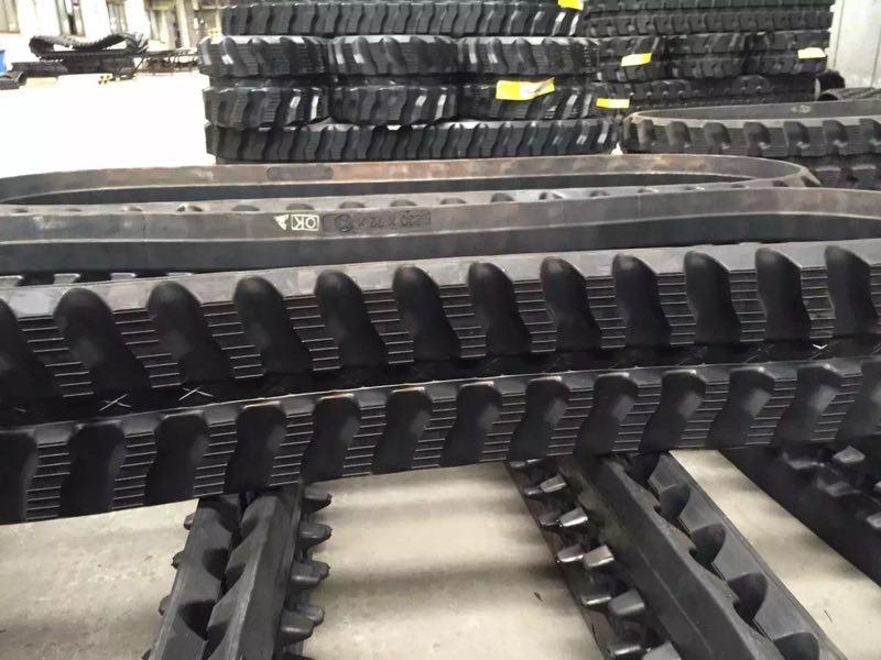 佛山玉柴13/15挖掘機橡膠履帶規格型號配套廠家