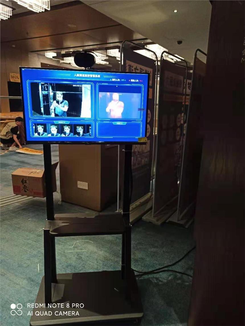 廣東人體測溫門出租清遠體溫篩查安檢門,準確測體溫異常語音提示