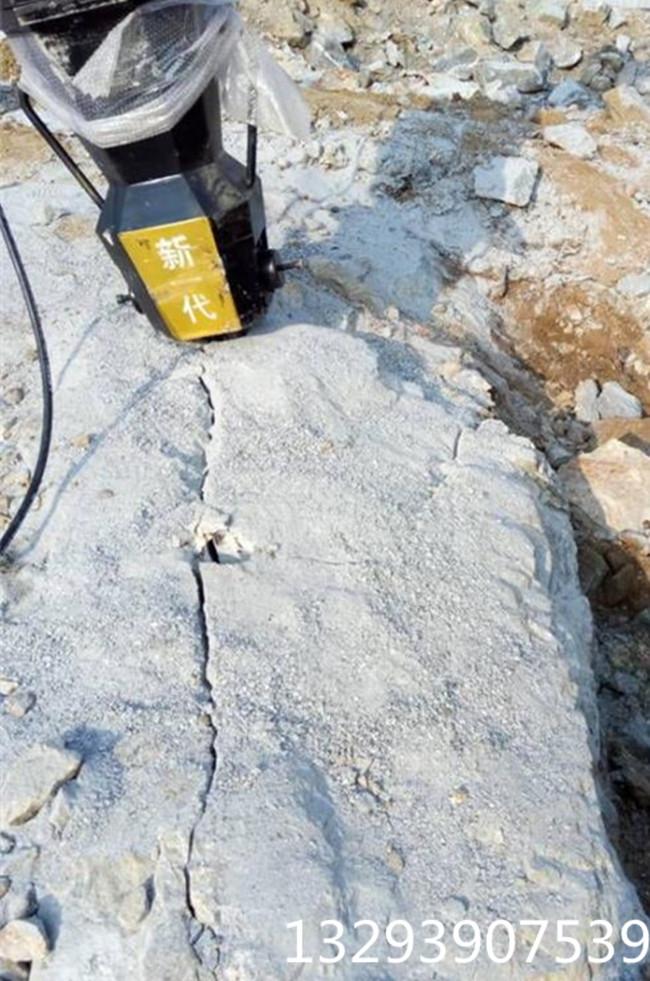 杭州石块破碎液压劈裂棒代替放炮案例参考劈裂机好还是劈裂棒好