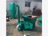 牛羊饲料粉碎制备机 青贮草捆全自动粉碎机传送进料养殖粉碎机