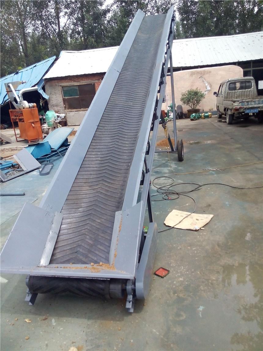 防滑爬坡传送机输送带上货爬坡输送机