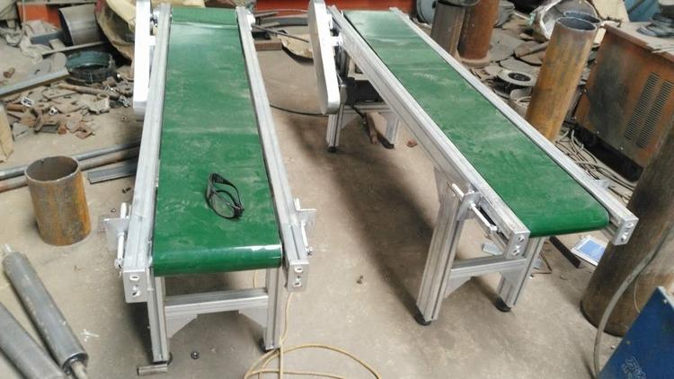 卫生级PVC白色皮带式输送机耐高温 食品包装输送机