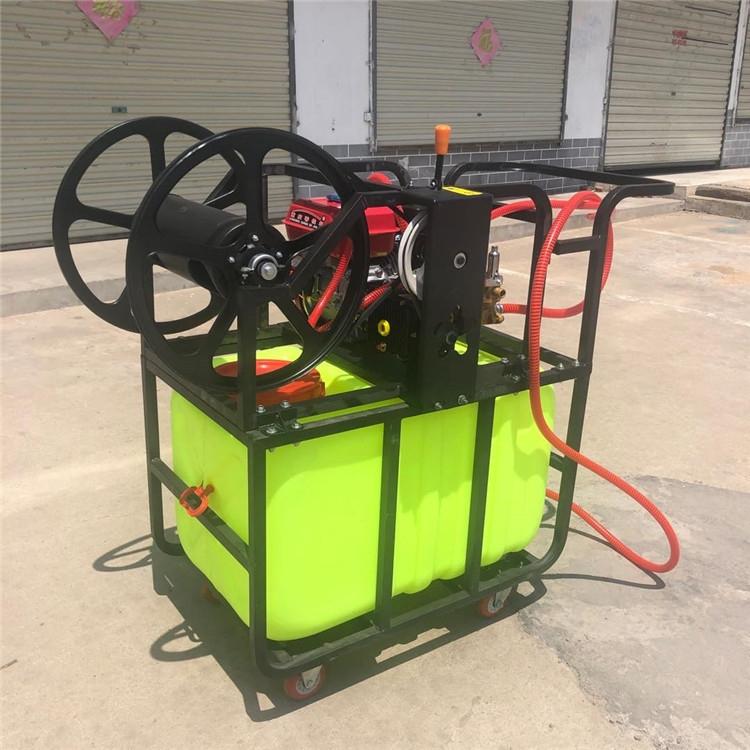手推式汽油喷雾机  远射程汽油喷雾器  自动卷管喷雾器