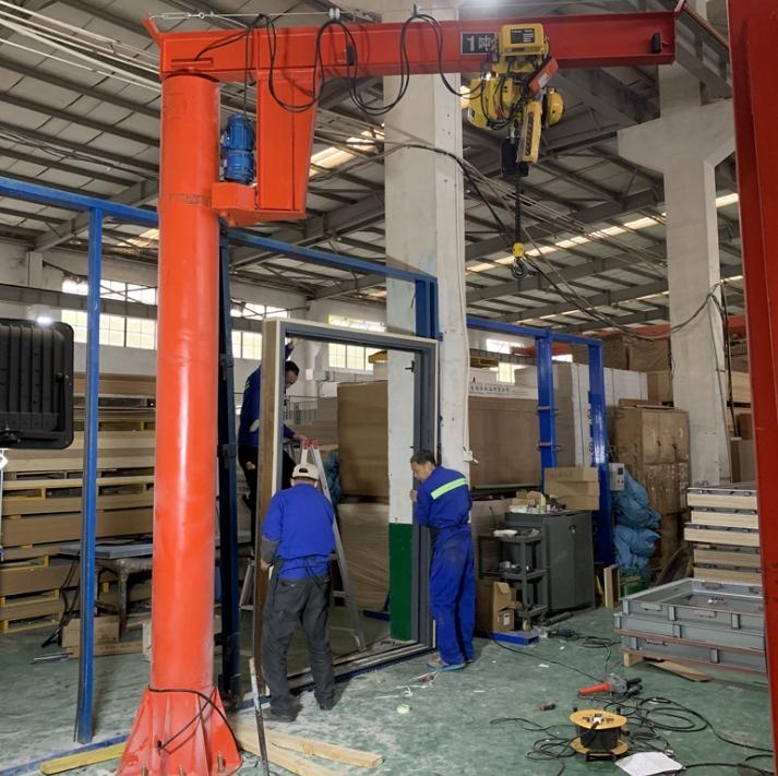 1噸懸臂吊 天津電動葫蘆立柱式懸臂吊 臂架型懸臂起重機廠家