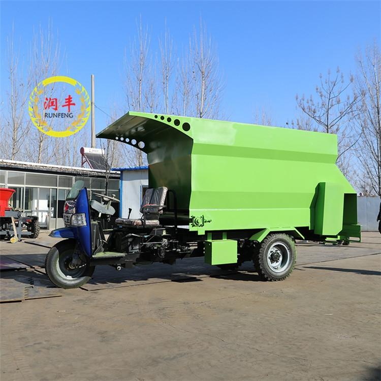潤豐牌 柴油電動 三輪撒料車  養牛撒料車廠家