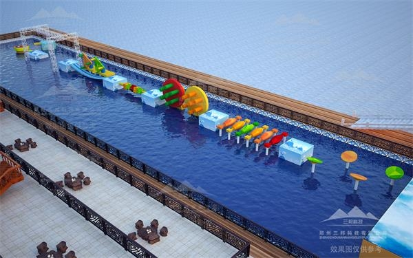 郑州厂家直接供应大型竞技水上冲关设备