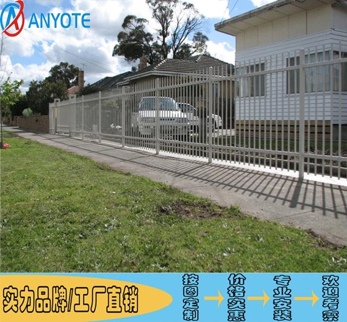 中山院墙铁栅栏 东莞学校围墙护栏改造 佛山锌钢护栏厂家电话