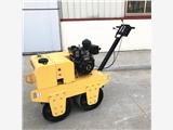 廠家優惠大降價600手扶雙輪壓路機,雙鋼輪振動碾,路面軋道機