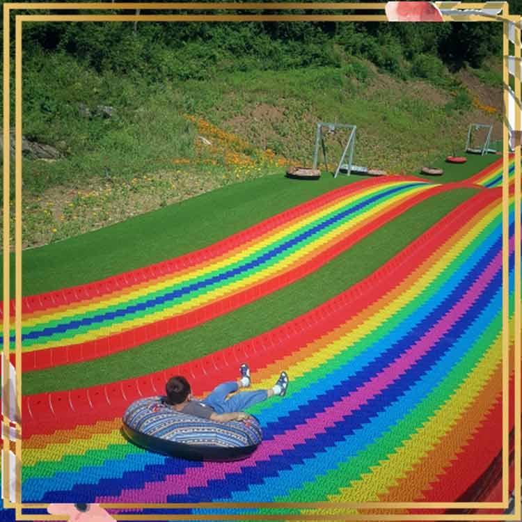 網紅彩虹滑道商品 七彩滑道坡度設計
