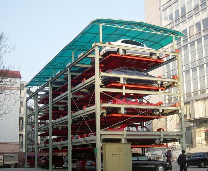 大連高價回收立體機械停車設備回收三層立體升降橫移車庫