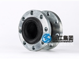 LJX1021,DN40日標硅橡膠徑橡膠接頭螺栓孔位置