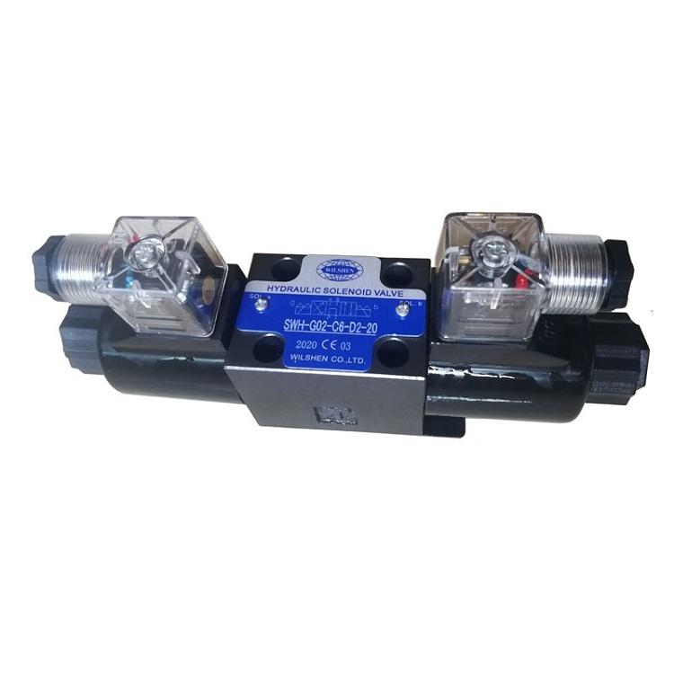 WILSHEN 臺灣液壓閥 電磁換向閥 SWH-02  剪板機注塑機專用電磁閥