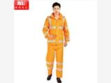 户外荧光橘红色成年人雨衣雨裤套装