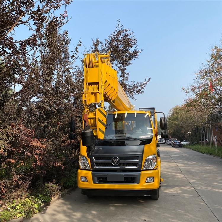 陕汽12吨吊车价格 国六12吨吊车臂长多少米