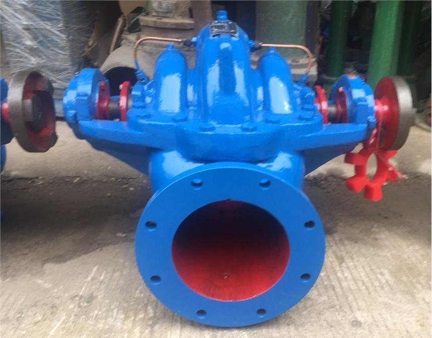 臥式填料型中開泵6SA-8A吸入口吐出口尺寸圖