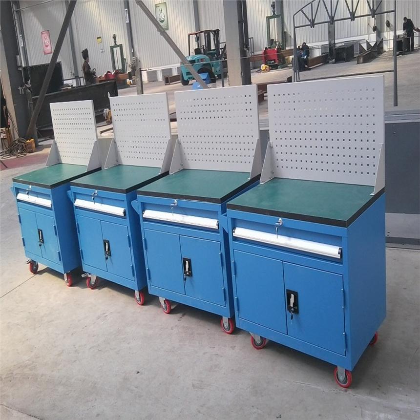 天津專業生產定制工具車_重型工具柜_帶掛板工具車