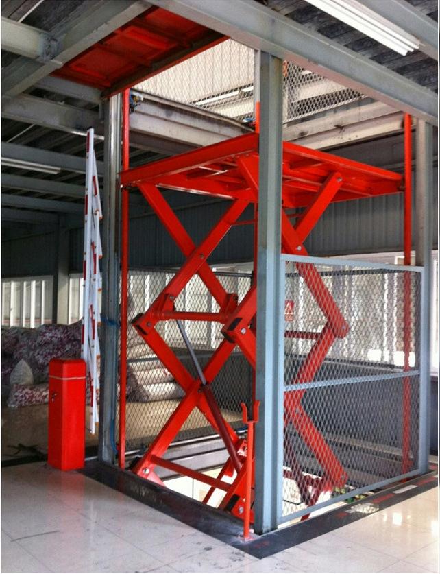 天津廠家定制固定剪叉式液壓升降平臺簡易升降貨梯剪叉式升降機