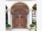 北京铜升铜门制作别墅专用仿铜门生产