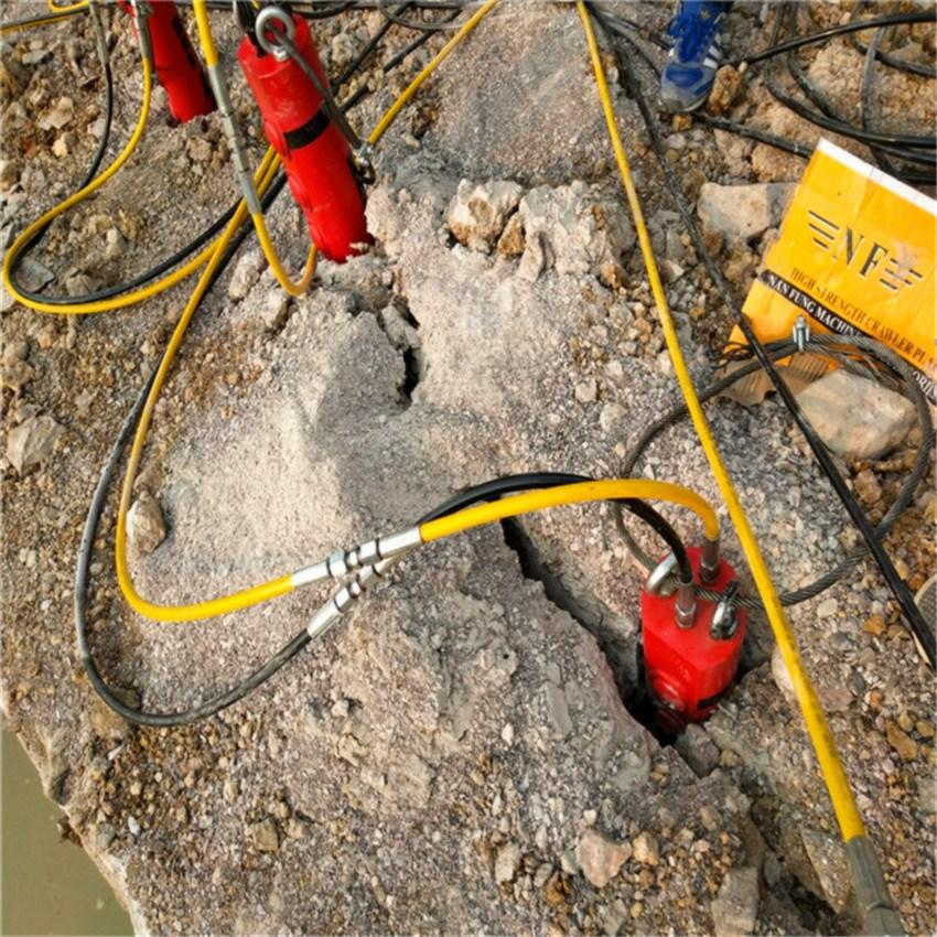 内蒙古乌海工程开挖遇坚硬石头用劈石机量大