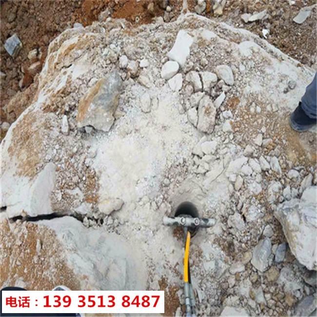 阿坝汶川房地产地基开挖岩石裂岩机哪里有卖的