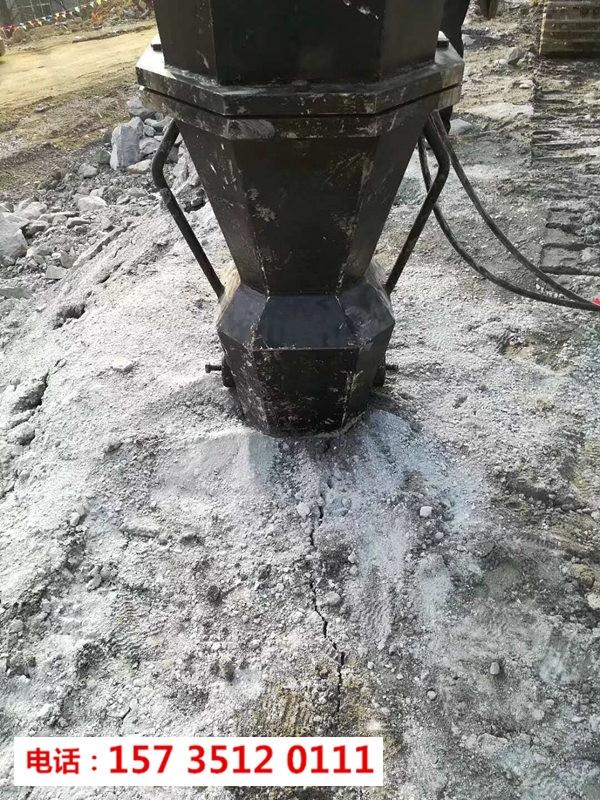湖南资兴市桩基建设岩石分裂机-无灰尘