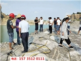 青海玛沁代替放炮破裂岩石的设备-施工方案