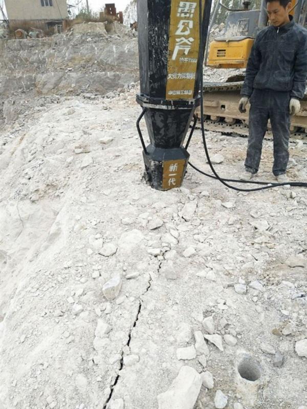 山东菏泽岩石开采利器劈裂棒250型效果
