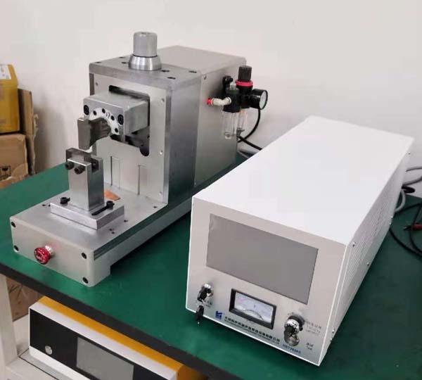 銅濾網搭接超聲波金屬點焊機焊接