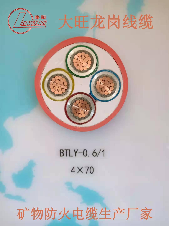 柔性礦物防火電纜RTXMY4X25+1X16廠家直銷
