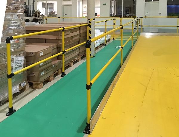 新百安免焊接组装式工业安全护栏 工厂车间设备走道栏杆