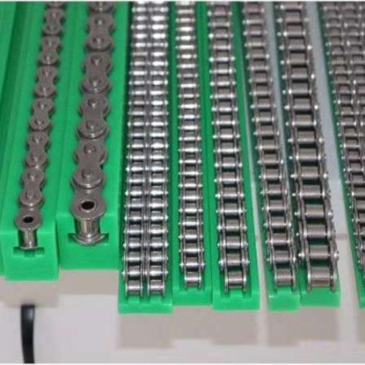超高分子量聚乙烯 链条导轨 T型单排 绿色