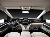 奔馳V260內飾改裝改色 后排改航空座椅包白色真皮