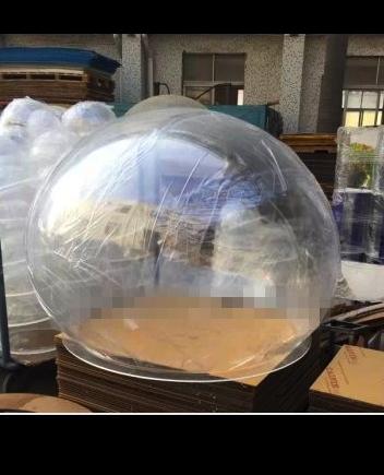 北京透明玻璃球罩,户外透明防护罩,大型透明圆球罩