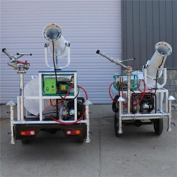 湖南张家界小型柴油雾炮三轮洒水车新能源汽油雾炮三轮洒水车