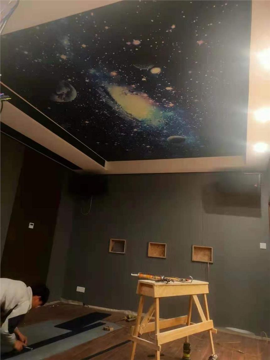 云南昆明市光面噴繪吸音板星空頂滿天星模塊廠家私人定制