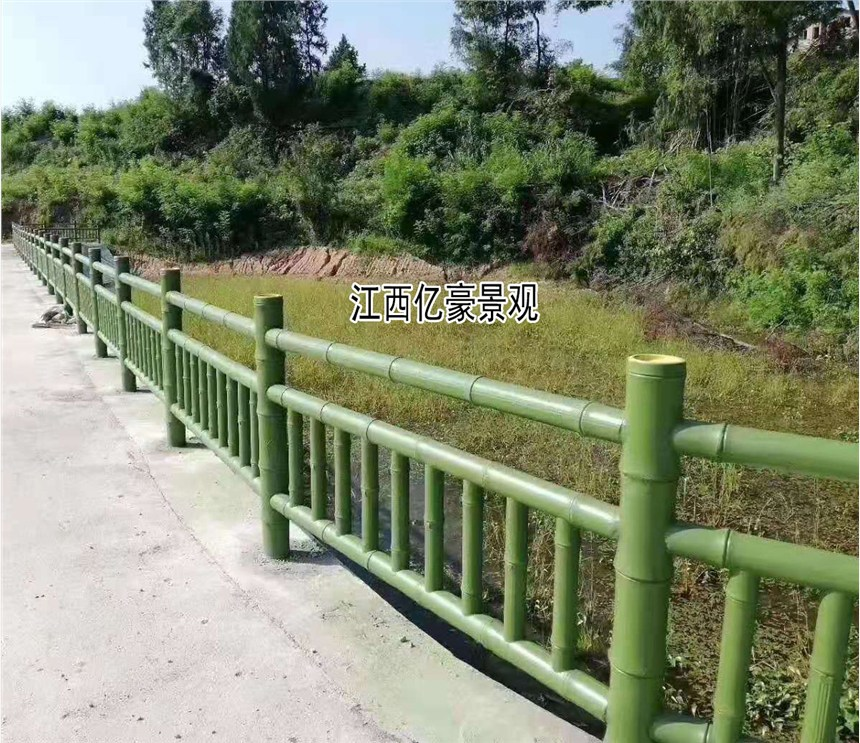 仿竹节栏杆,仿毛竹护栏效果