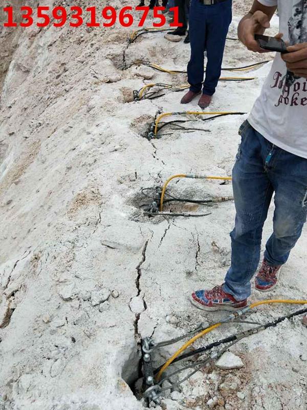 花岗岩开采岩石分解破石机/西安图片
