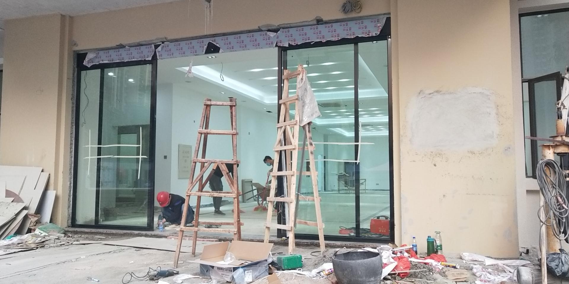 江門感應玻璃門安裝、沙坪自動門、自動門訂做安裝