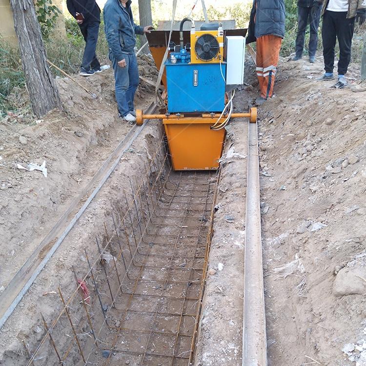 公路水溝成型機梯型排水溝滑膜機怎樣