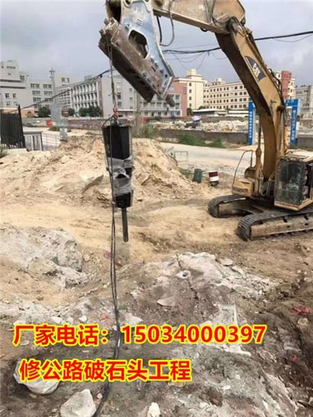 破石头机器大型机载式破裂机湖北黄冈孔直径110mm厂家