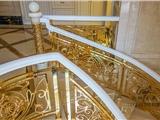 铝板雕刻护栏、铜艺雕花楼梯护栏、铝艺铜艺扶手楼梯