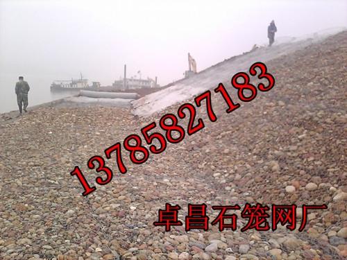 修筑泄洪槽 格宾网笼、  库岸滑坡段护岸格宾网垫、  库岸滑坡上修筑护岸格宾网
